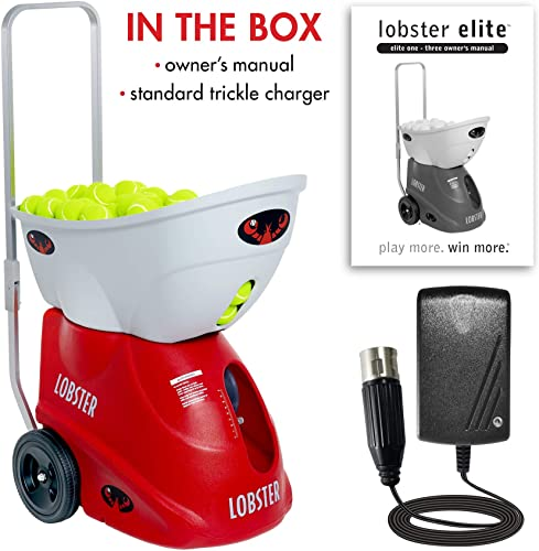 Lobster Sports Elite Two Battery Powered Tennis Ball Machine